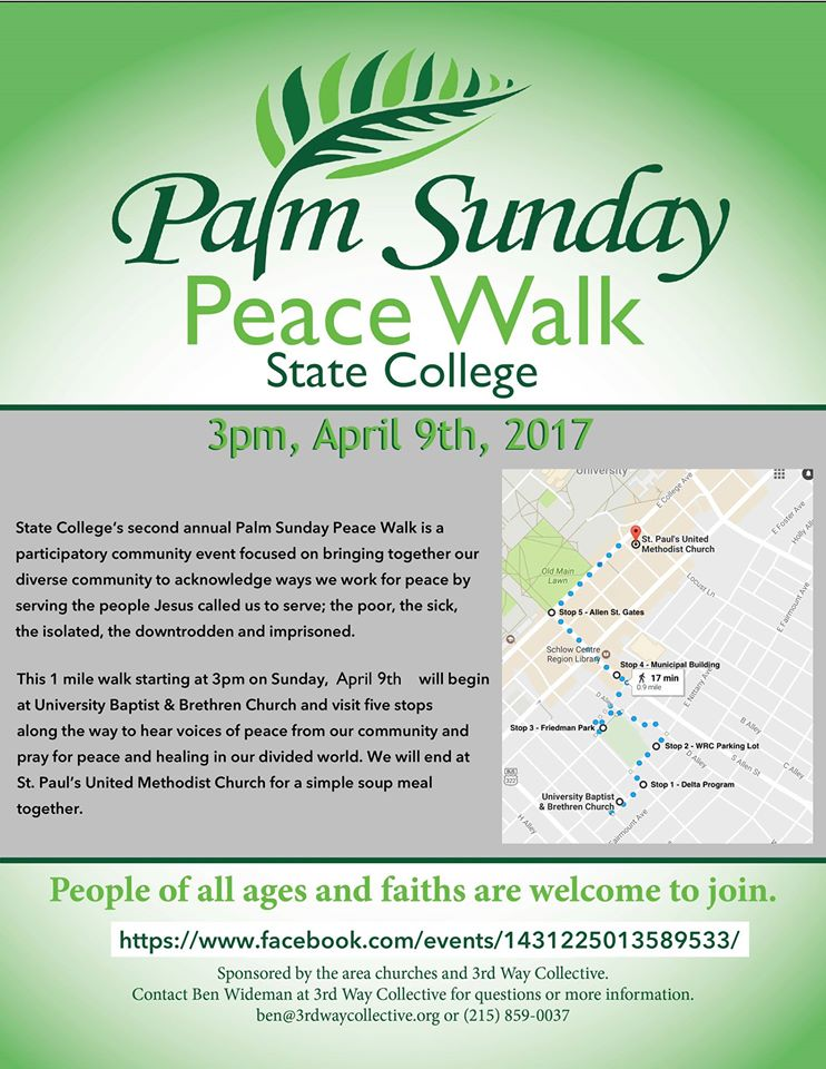 Palm Sunday Peace Walk Poster